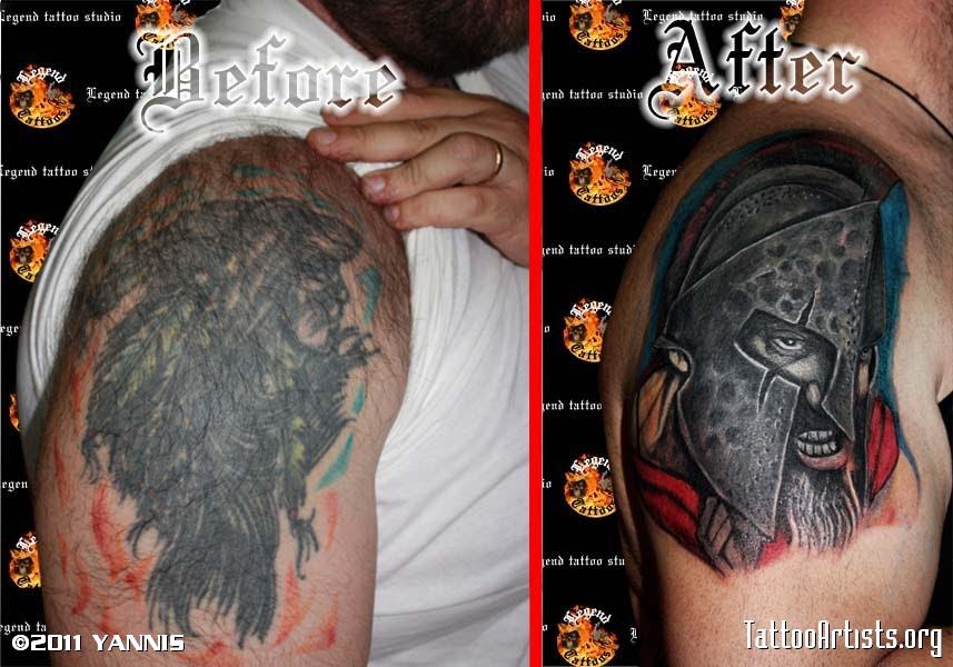 Spartan Tattoo Cover Up Lilzeu Tattoo De Tattoomagz