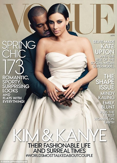 Kim and Kanye West cover Vogue April Edition ..Her dream finally come true ..