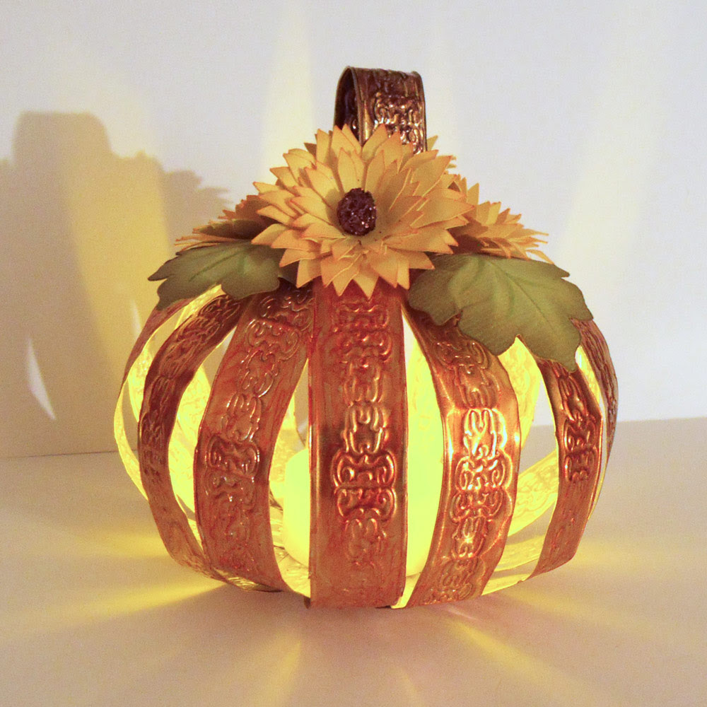 Embossed Metal Pumpkin