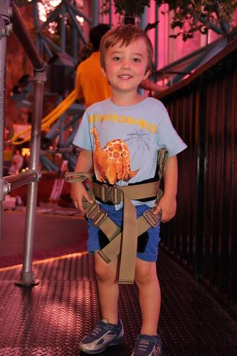 Olsen ready to bungee-trampoline jump