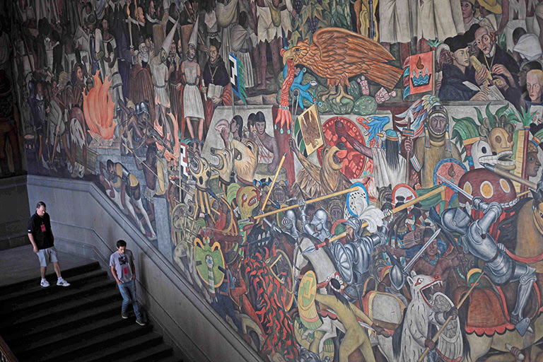Epopeya Del Pueblo Mexicano Narrativa Visual Por Diego Rivera