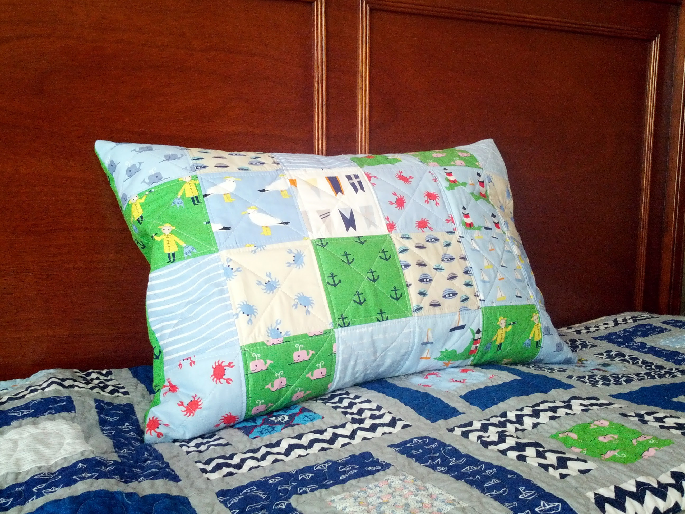 Whales and Sails Pillow