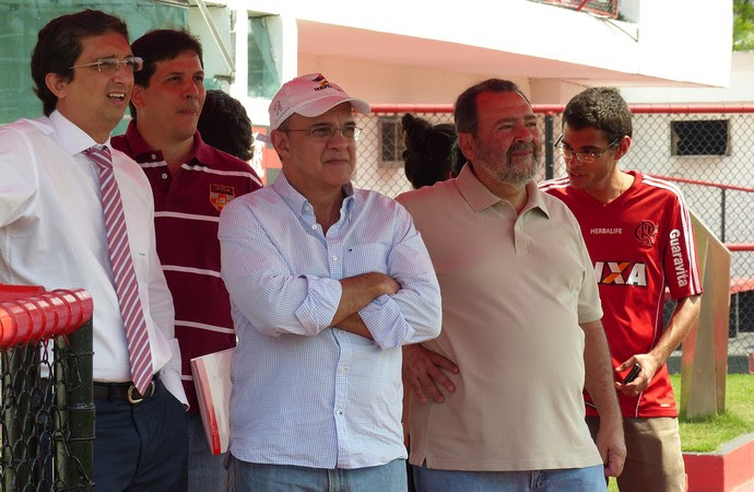 Eduardo Bandeira de Mello Flamengo treino Gávea (Foto: Cahê Mota)