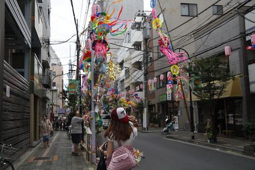Continuing the way through the street of Tanabata stuff