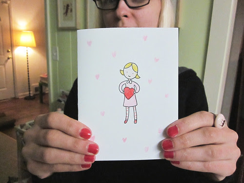 Holding Heart Valentine's Day Card