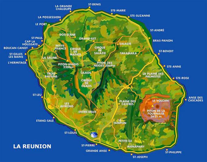La Réunion Vue Du Ciel Carte De La Reunion Saint Denis Le