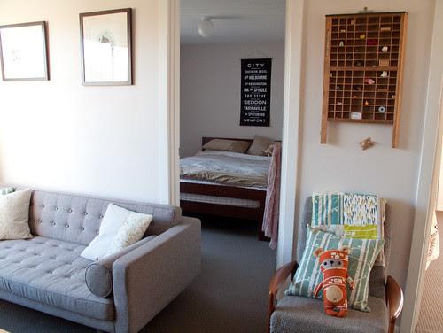 my new flat - lounge & bedroom