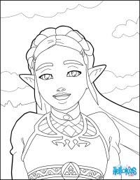 Coloriages Zelda Pour Coloriage Zelda Breath Of The Wild A