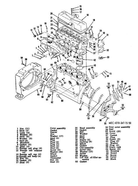 Figure 50. Engine parts, manifold side.