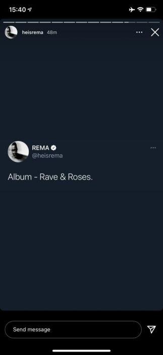 REMA ANNOUNCED THE TITLE OF HIS ALBIUM