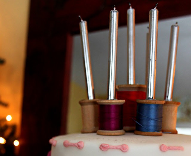 Candles & Vintage Spools