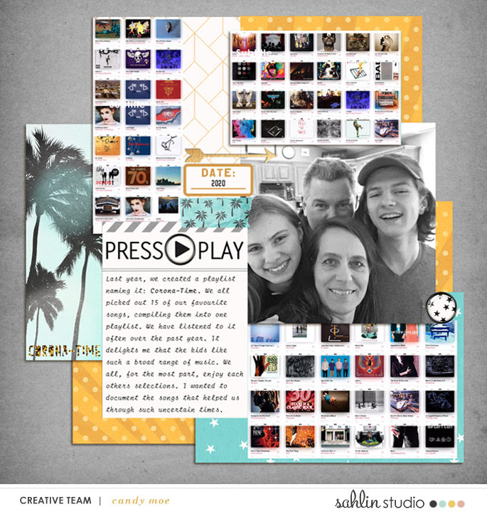 digital scrapbooking layout created by candy featuring April 2021 FREE Template by Sahlin Studio