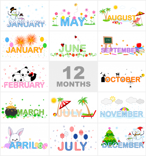 Months Of The Year Printable Visual Aid Kidspressmagazinecom