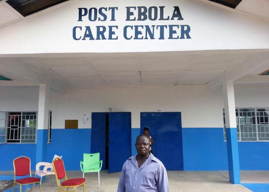 Ebola survivor and former Mercy Hospital employee nurse, Dennis Karimu, is chairman of the Post Ebola Treatment Center in the Bo District of Sierra Leone. He also works as a nurse and counsellor at the center.