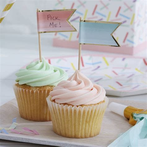 ombre foiled cupcake topper flags by ginger ray