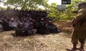 A screengrab from a Boko Haram video allegedly shows …