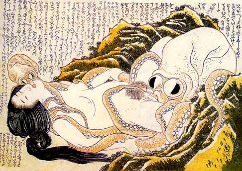katsushika hokusai, dream of the fisherman's wife