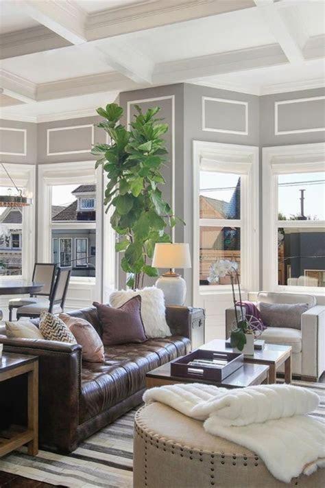 room redo modern farmhouse living room   brown