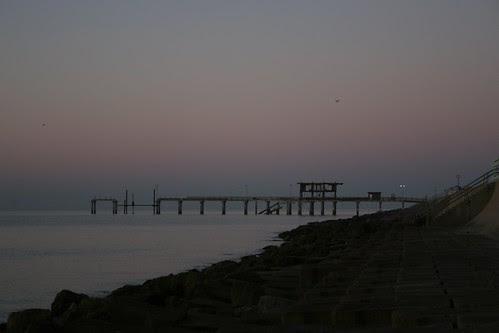 calm gulf morning sunrise