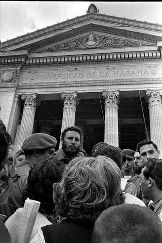Fidel Castro en la Universidad de la Habana el 27 de noviembre de 1960 LIBORIO NOVAL