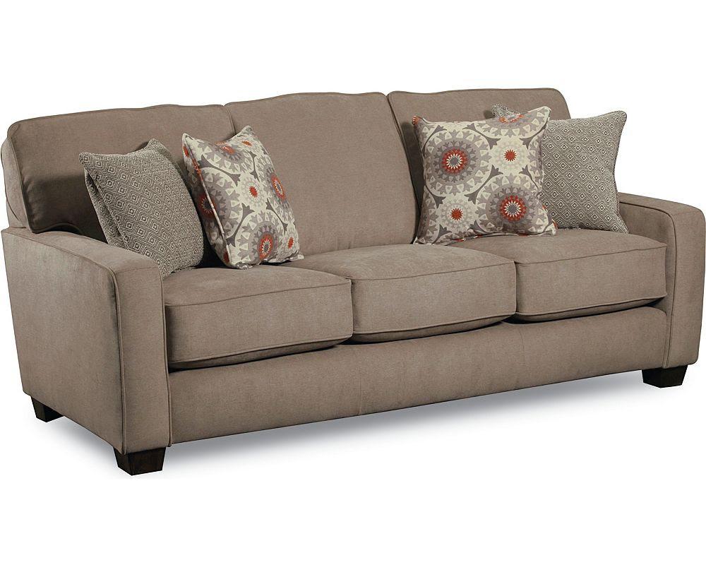 Contemporary Ethan Allen Sleeper Sofas With Four Decorative Pillows