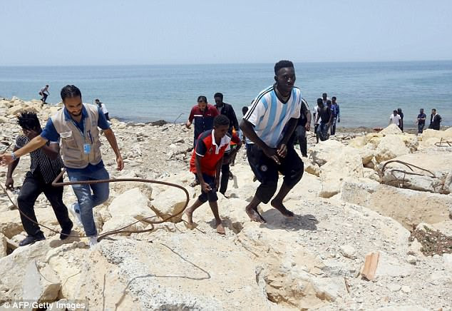 The bodies of three babies were recovered and around 100 people were missing after the migrant boat sank off the coast of Libya