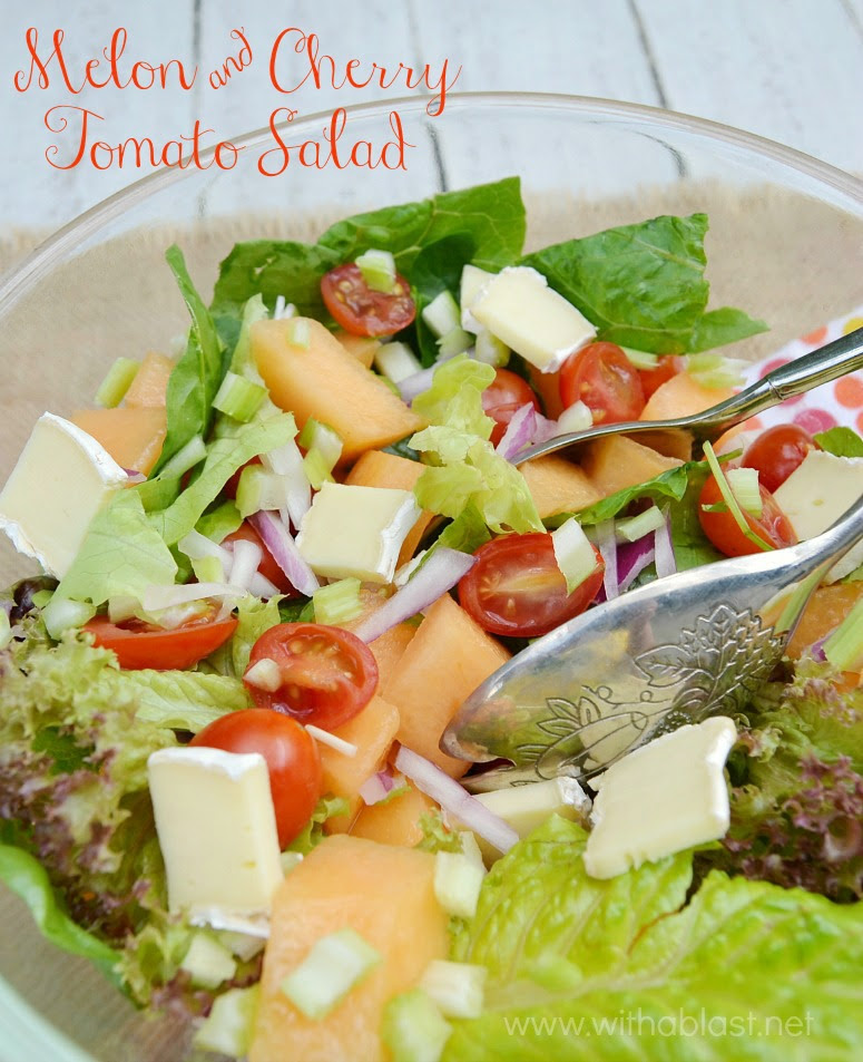 Melon and Cherry Tomato Salad-P
