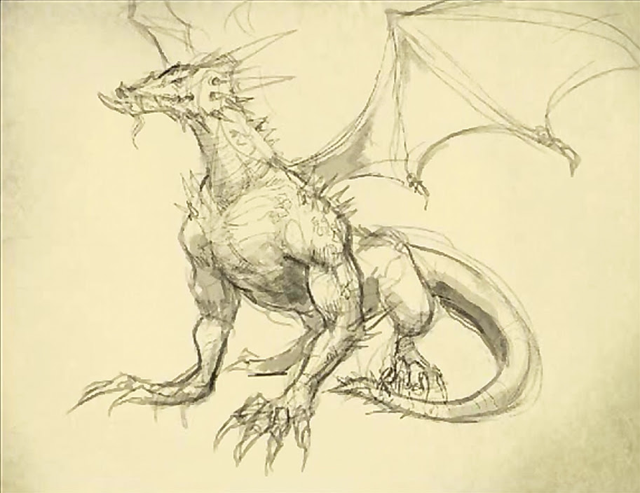 drawing dragon body