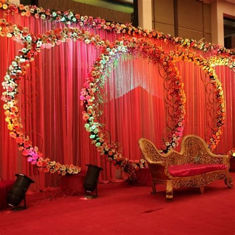 Colorful Traditional Look Indian Wedding Stage Décor Ideas