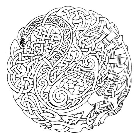 coloring pages celtic mandala coloring pages
