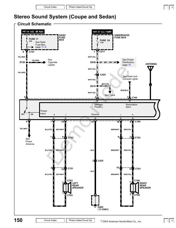 33 1998 Honda Accord Stereo Wiring Diagram - Wire Diagram ...