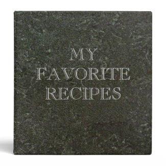 Green Marble Recipes Binder