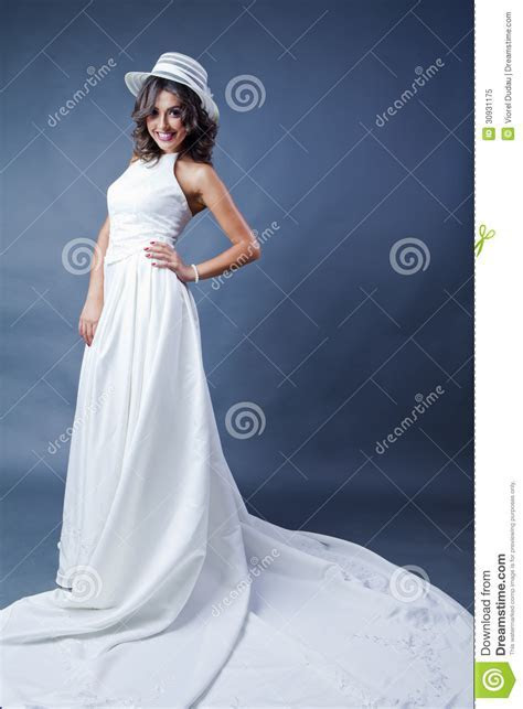 Smiling Bride With Hat Royalty Free Stock Photo   Image