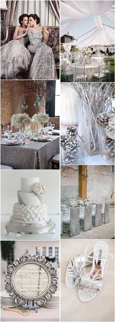 silver winter wedding ideas   big day deer
