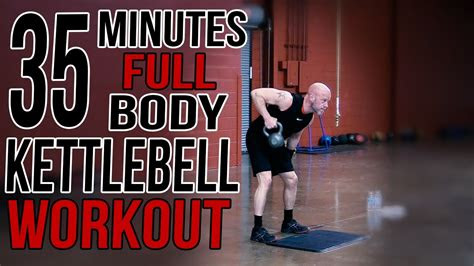 minute full body kettlebell workout  home youtube