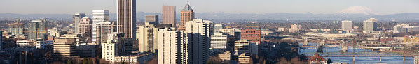 Click for a massive, full size, huge panoramic shot of Portland from the Aerial Tram.