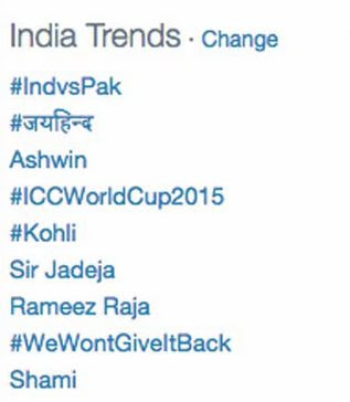 India vs Pakistan ICC World Cup 2015