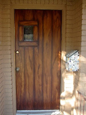 Front Door Painted Like Wood Planks Everything I Create