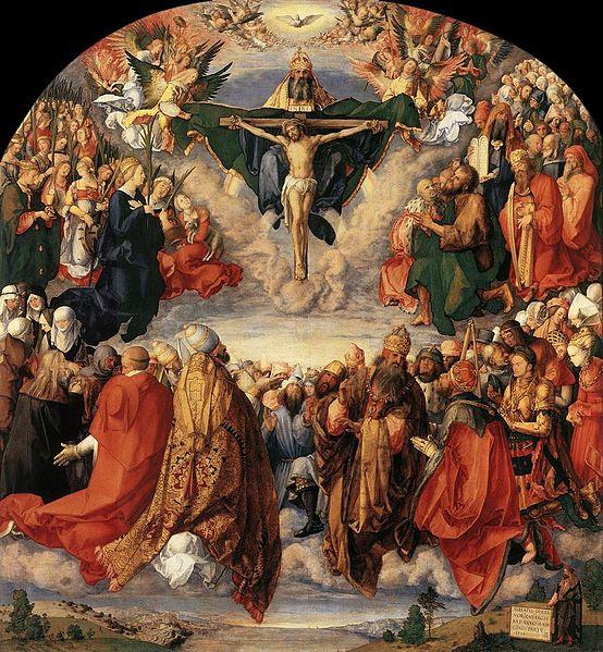 File:Durer, Adoration of the Trinity 01.jpg