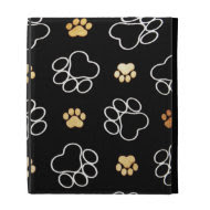 Dogs Rule Paw Prints Gifts for Dog Lovers iPad Folio Covers