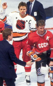 Gretzky Fetisov jersey swap RV87
