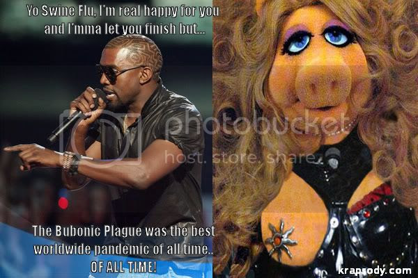 Kanye West and swine flu