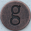 Copper Lowercase Letter g