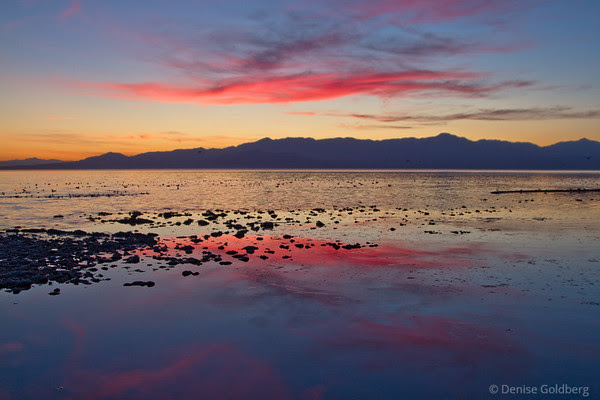 sunset, Salton Sea Beach