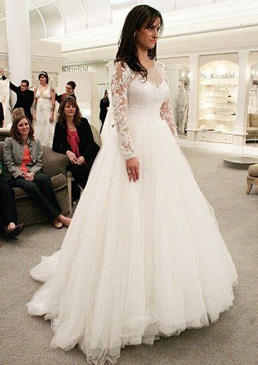 high neck wedding dresses SAY YES TO THE DRESS   Dennis