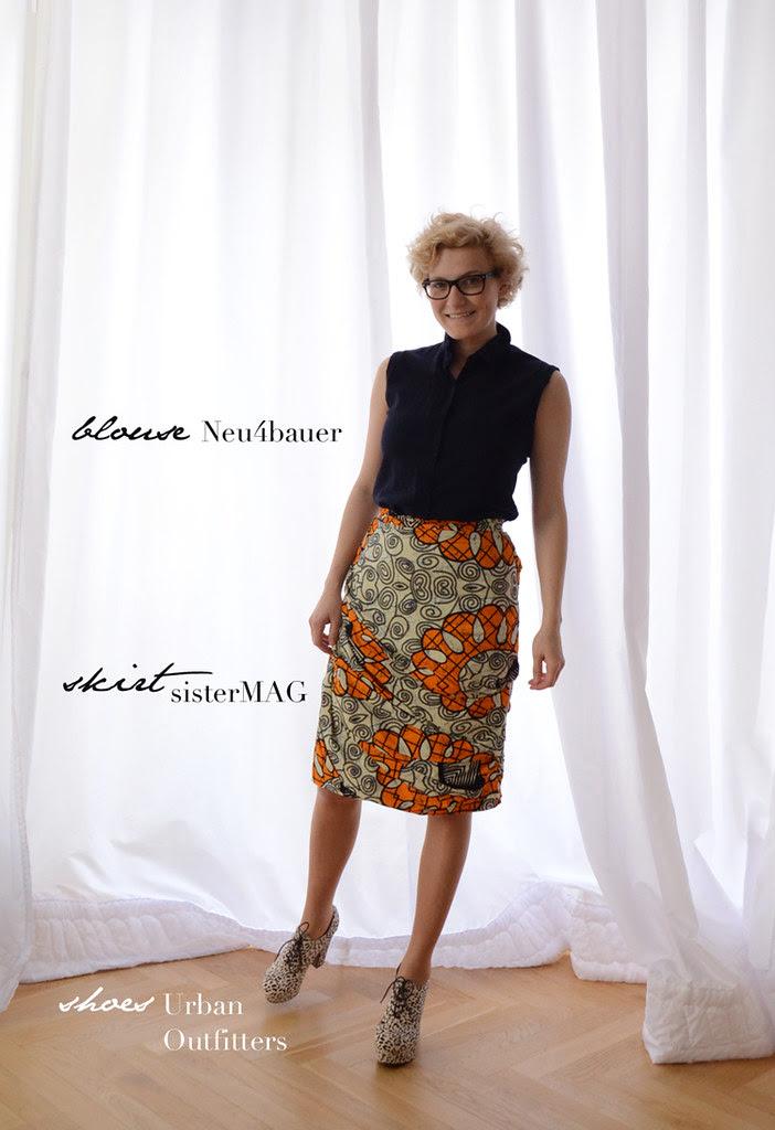 Burberry inspired skirt