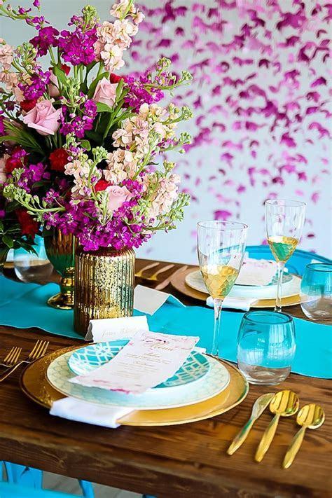 Vibrant Turquoise and Magenta Coastal Wedding Inspiration