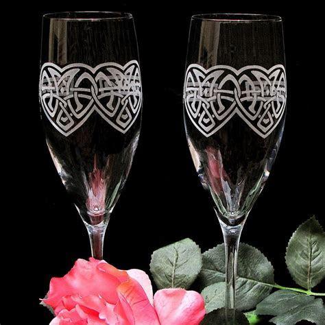 Celtic Wedding Cake Server and Champagne Flutes, Celtic