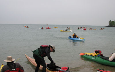 Burnham Marquette Water Trail kayakers