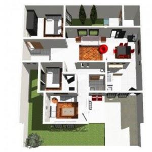 desain rumah minimalis ukuran 9x13